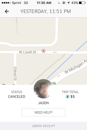 The receipt of Iyob and Bramlage's Uber ride with Dalton. Photo provided by Iyob. K's flag has been at half-staff since the shooting (Screenshot provided by Yohana Iyob)