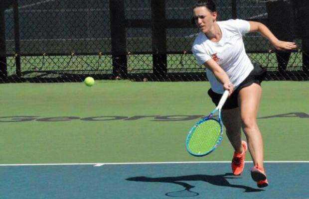 Sarah Woods K'16 has played first singles all four years. [Photo provided by Sarah Woods]