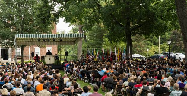 Speakers welcome Kalamazoo College's Class of 2020 (Andrew Parsons / The Index).