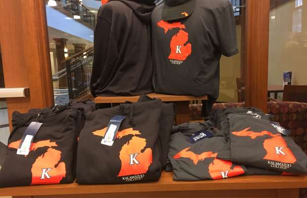 Kalamazoo College spirit-wear (Janelle Grant / The Index).