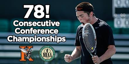 Men's Tennis 78 Consecutive Conference Championships (Courtesy of Kalamazoo College Athletics)