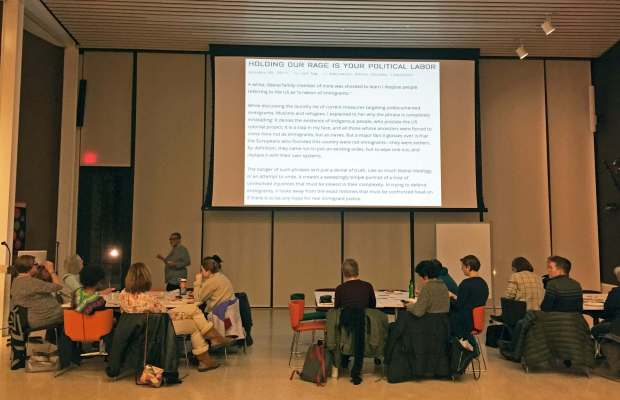 Dr. Lisa Brock leads ACSJL Training Series workshop in the Arcus Center [Ayla Hull / The Index].