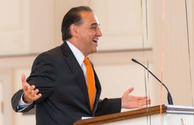 President Jorge Gonzalez speaks at 2017 Founders Day (Anthony Dugal / The Index).