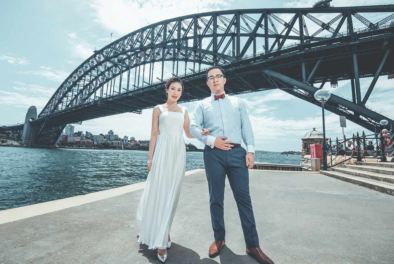 Sydney Harbour Bridge Pre-wedding Photography // The Lacy Day