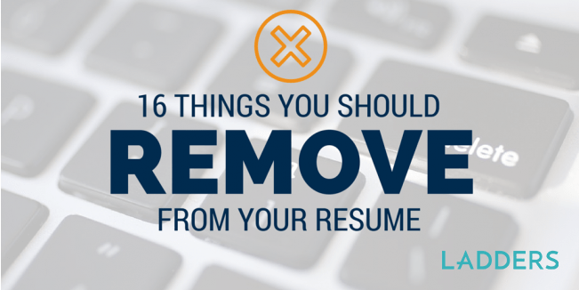 16 things you should remove from your resume expert career