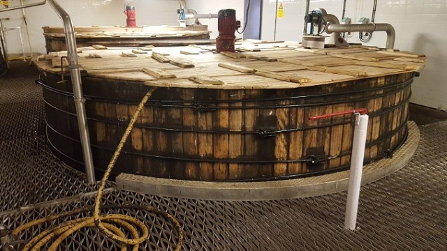 The mash tuns at Bunnahabhain were huge! Second biggest in Scotland. Only Glenfarclas has bigger ones.