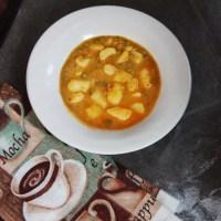 Bhaji puri station wala: a peas and potato curry, a popular street food