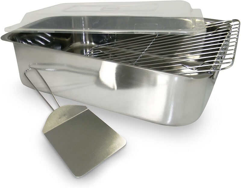 10. ExcelSteel 4 Piece Stainless Roaster with Cover