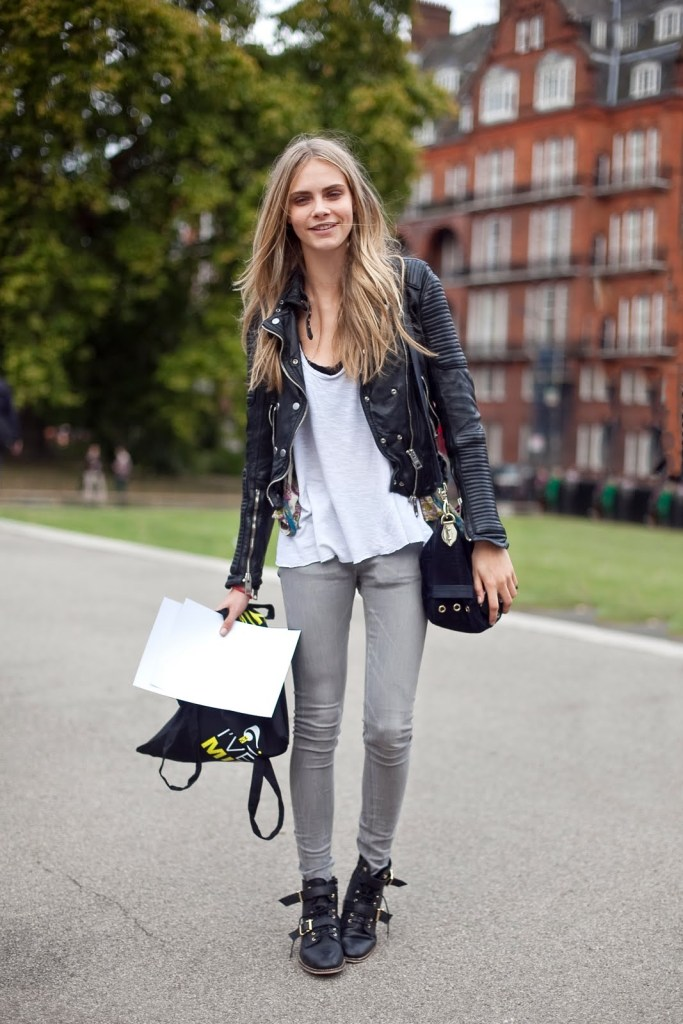 Cara Delevingne off duty model style