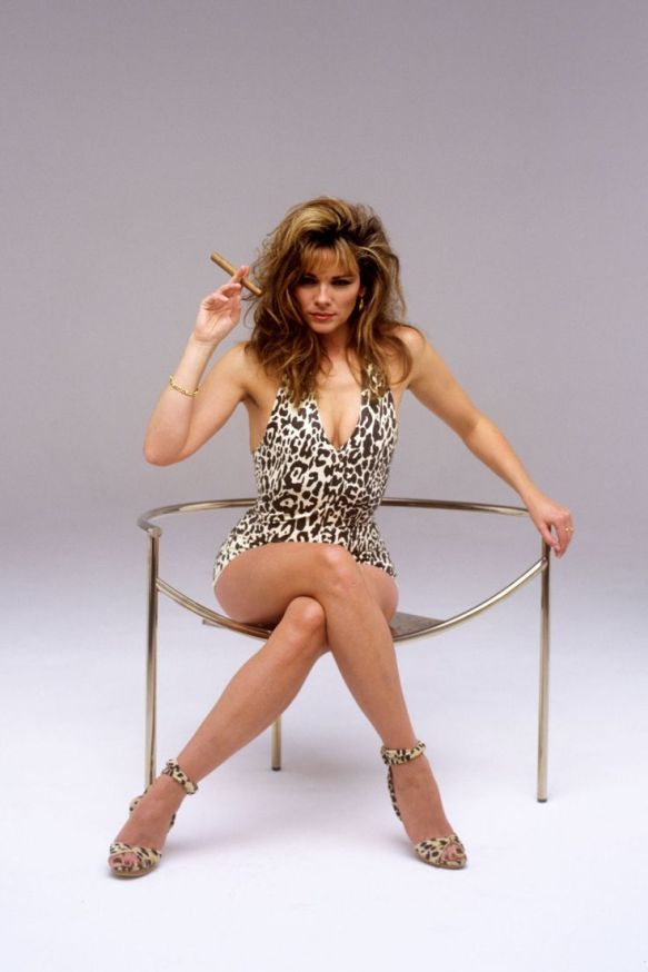 Kim Cattrall in a leopard print bathing suit | The Updated Canadian Tuxedo: Canadian Celebs in Leopard Print | The Lady-like Leopard
