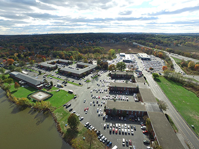 Aerial View of The Lakeside Park Office Park