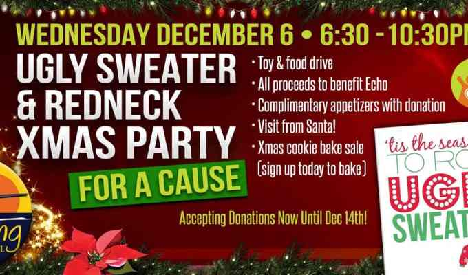 Redneck Christmas.Ugly Sweater And Redneck Christmas Party For A Cause