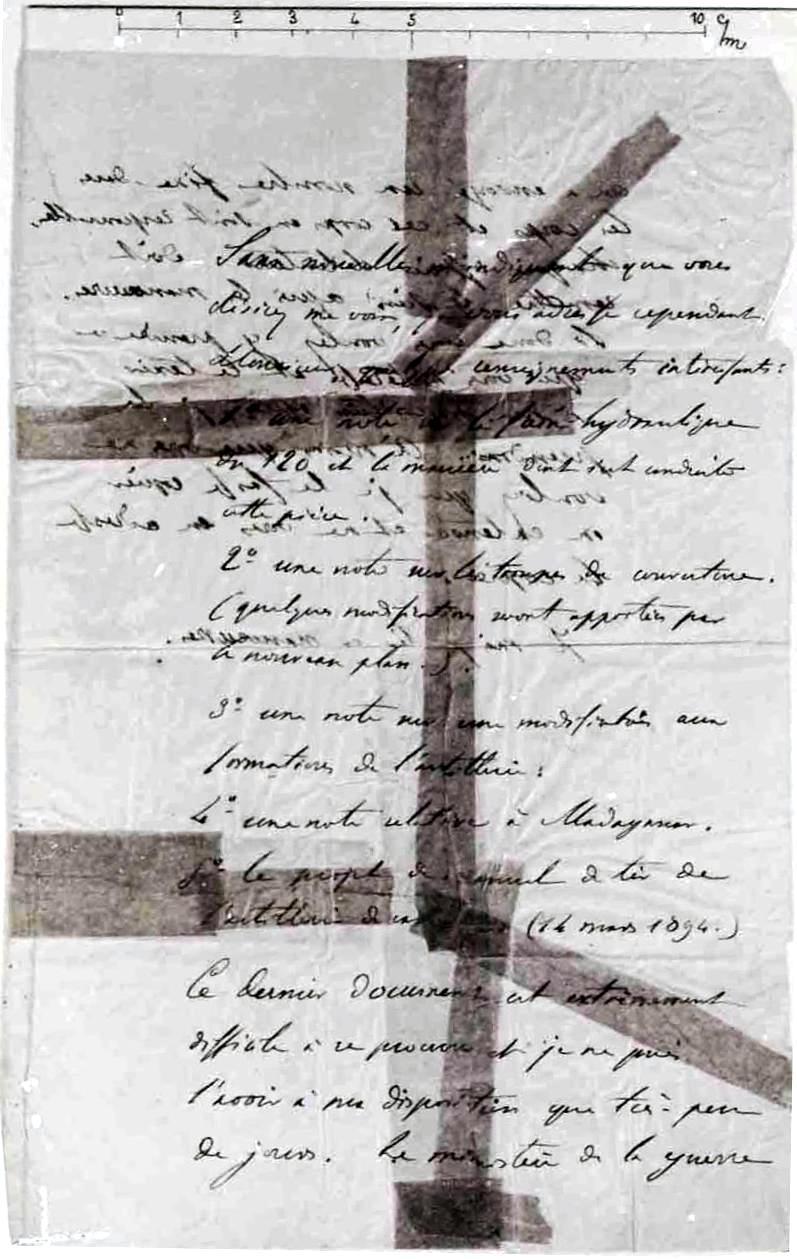 The infamous bordereau of the Dreyfus Affair
