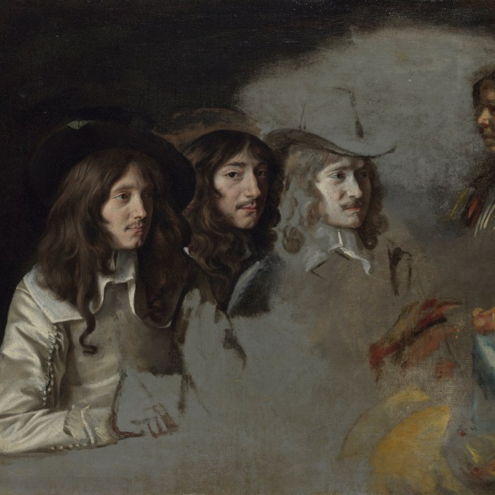 "Le Nain, ""Three Men and a Boy,"" ca. 1640–1645. Oil on canvas, 21 ¼ x 25 3/8 in. National Gallery, London, NG 4857. © National Gallery, London"