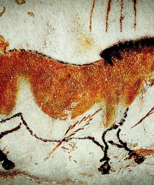 Horses at the caves of Lascaux.