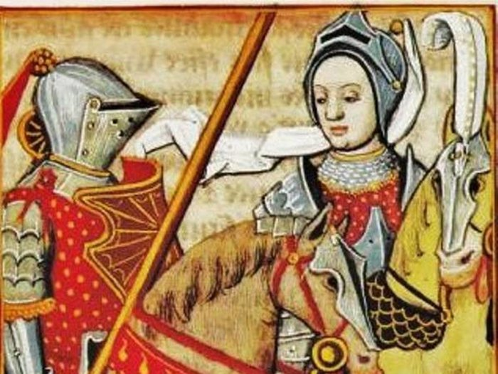 Medieval portrait of Jeanne de Clisson