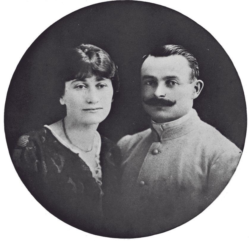 Black and white portrait of Celeste Albaret and Odilon (Odile) Albaret