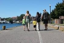 walk along the lake in Marquette, MI