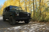 IMG_1921 Kevin Jackson's Land Rover Defender, aspen trees in autumn