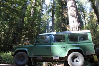 IMG_2598 northern California, The Redwoods, the landrovers, 1984 land rover defender