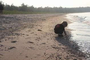 little boy at beach, lake Michigan, Abraham Jackson, shorelineIMG_1505
