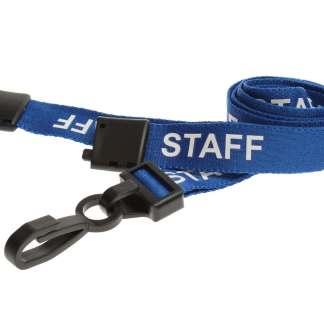 15mm Staff Lanyards with Breakaway & Plastic Clip (Light Blue)
