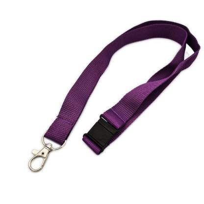 w-prp220mm Lanyard with Safety Breakaway & Trigger Clip (Purple)