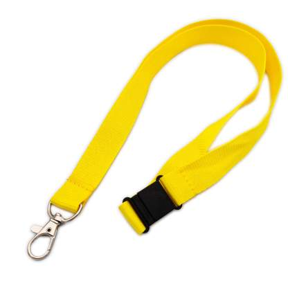 20mm Lanyard with Safety Breakaway & Trigger Clip (Yellow)