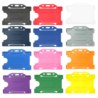 Coloured Single Sided Rigid Plastic ID Holders (Horizontal / Landscape)