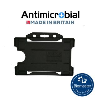 Antimicrobial Black Rigid Plastic ID Holder