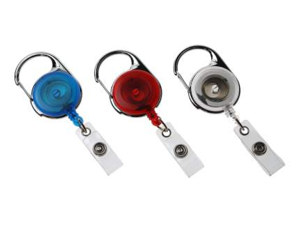 Carabiner ID Badge Reels with Strap Clip