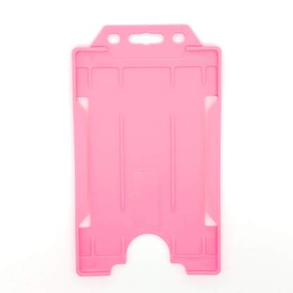 Sided Rigid Plastic ID Holder (Vertical / Portrait) (Pink)