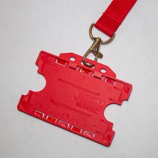20mm Lanyard with Double Sided ID Holder (Red)