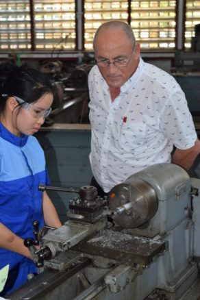 Bernhard Fuerst at the Lao-German Technical College earlier this year