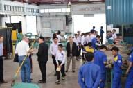 AfC pupils look around the Welding Department