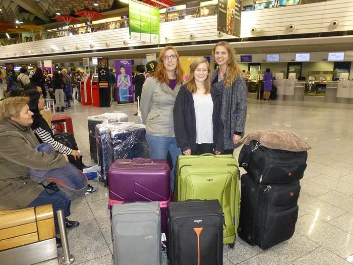 TeamII Departure Frankfurt