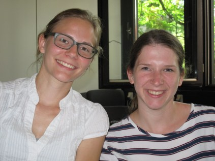 Volunteers of Team I Franzsika and Laura