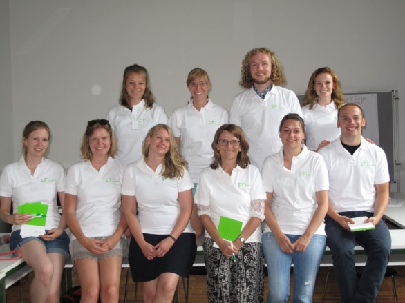 Top: Sara, Pauline, Johannes, Anika; Below: Kerstin, Juliana, Silja, Prof. Martin, Denise, David; Missing: Thorsten, Lena, Julia