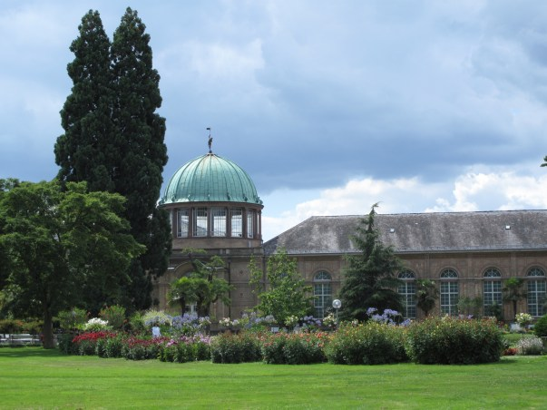 View from the restaurant in the Botanical Garden next to the Castle of Karlsruhe