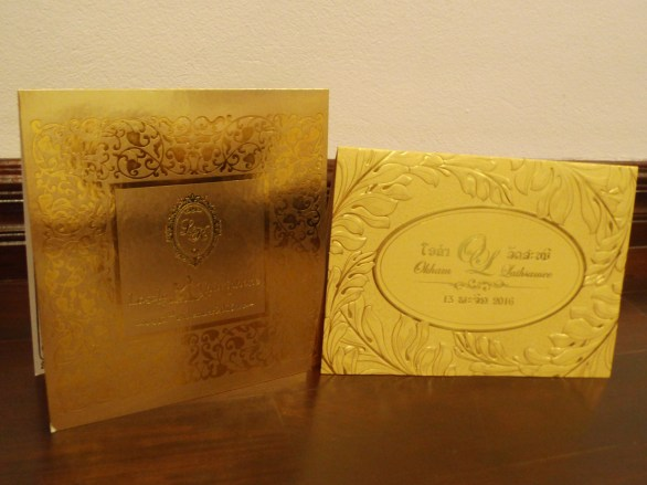 Invitation cards: Two weddings on one weekend
