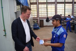 Lars Engel receives a Christmas card from Soksay Fakfuengchai