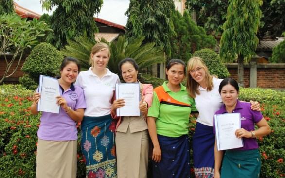 Group picture: Mittaphone (Mit), Kerstin, Phovang (Noy), Latsamy, Pauline, Bounpheng
