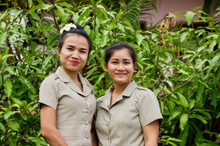 Donekeo and Souk: English teachers of classes 1 and 2 at Phang Heng Secondary School