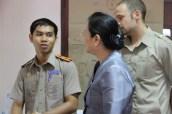 Mr Bounleud Sengsavang explains the tandem work with the German volunteers