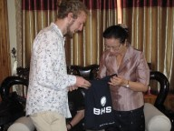 ... and some gifts from BHS, marking the start of the new vocational training programme at the Lao-German Technical College