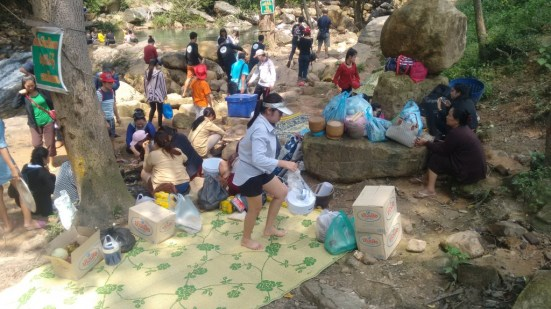 Picnic at the waterfalls on Teacher's Day