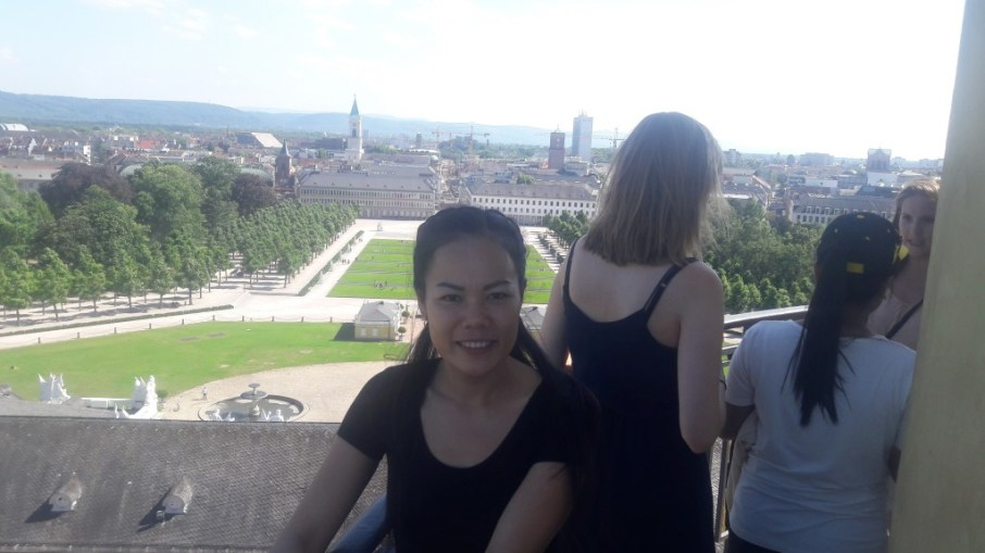 View from tower of Karlsruhe Castle to Black Forest