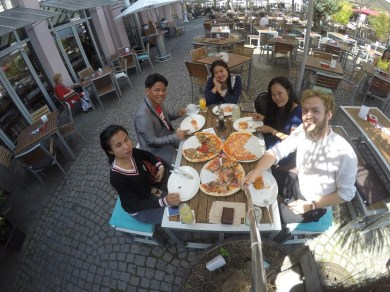 First lunch in Karlsruhe