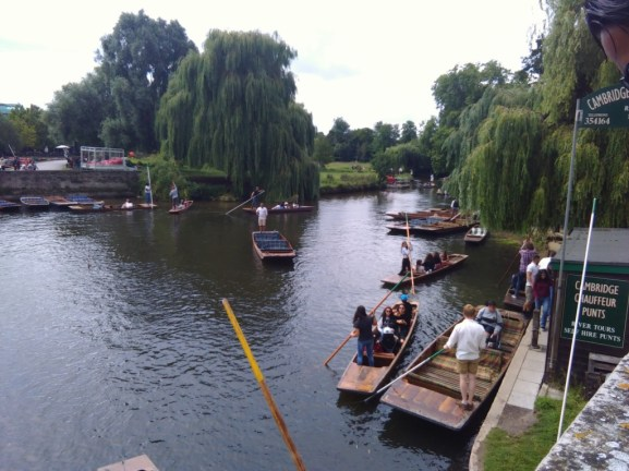 Some boats in Cambridge - like in Laos, they also have a boat racing festival
