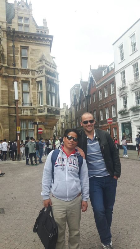 David and me in Cambridge